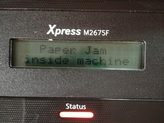 Samsung Xpress M2675 paper jam
